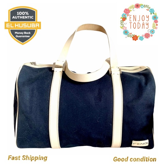 🌻💯Fendi satchel bag canvas navy blue sport